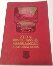 1929 ZION/BRYCE CANYON/GRAND CANYON UNION PACIFIC RAILROAD BOOK NATIONAL PARKS