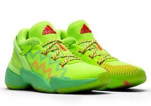 Adidas D.O.N Issue #2 SPIDEY SENSE Glory Green/ Red FU7385 Mens 7.5