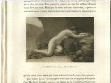 New listing ANTIQUE ARTISTIC NUDE WOMAN MARY MAGDALENE PRAYING PRAY ROCKS CAVE SMALL PRINT