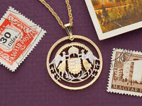 """Pendant /& Necklace Isle Of Man Coin 3//4/""""dia. Norwegian Forest Cat # 662"""