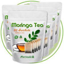 100 Beutel Moringa Kräuter Tee - beste Rohkostqualität (5x20 Dips)