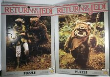 LOT OF 2 VINTAGE 1983 STAR WARS RETURN OF THE JEDI CRAFT MASTER PUZZLES NEW