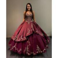 Neu Herzenform Spitze Quinceanera Süße 16 Ballkleider Abendkleider Kleider