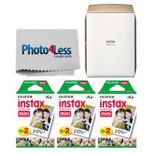 Fujifilm INSTAX SHARE SP-2 Impresora de teléfono inteligente (Gold) + 60 Instax Película Hojas