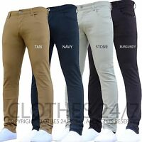 BNWT NEW MENS ENZO STRETCH SKINNY SLIM FIT CHINOS JEANS PANTS TROUSERS ALL WAIST
