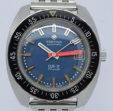 VINTAGE Certina DS-2 PH 200m Mens 40mm Automatic Steel Divers Watch NSA Turtle
