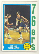 1974-75 TOPPS BASKETBALL DOUG COLLINS ROOKIE CARD #129 EXMT-NM NO CREASES (494)