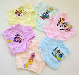 Baby Girls Underwear Panties Pack of 6 Kids Girls Briefs Style Panty Underwear