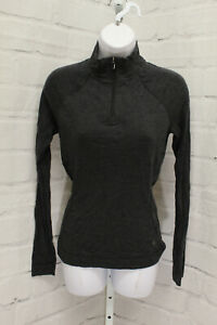 Smartwool Merino Base Layer Pullover, Women's Size S, Gray NEW