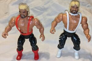 1985 AWA Remco The Fabulous Ones (Lane & Keirn) w/  partial outfits 1 complete