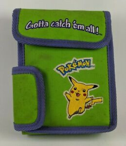 "Nintendo Gameboy ""Gotta catch 'em all!"" Neon Green Pokemon Carrying Case ONLY"