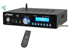 NEW Pyle PDA5BU 200W Bluetooth Stereo Amplifier w/ AM-FM USB Mic Aux Blue LCD