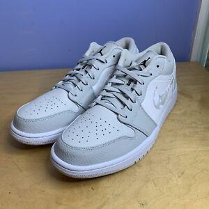 Nike Air Jordan 1 Low Retro White Camo DC9036 100 Men Size 13 Photon Dust Grey