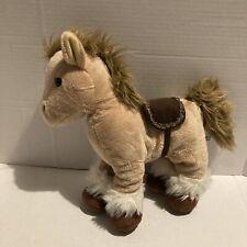 "Fiesta Brown White Horse With Brown Saddle Plush Stuffed Animal 10"""