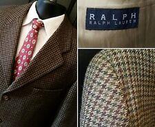 Ralph Lauren Tweed Wool Houndstooth Grey Plum Blazer Sports Jacket 40 R 3 Button