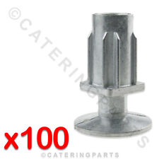 100 x 30mm SQUARE TABLE LEGS ADJUSTABLE FOOT INSERTS FOR CATERING table WORKTOP