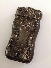 REDUCED! Antique Sterling silver vesta match safe floral embossed 514-18