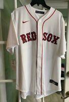 Nike 2020 Boston Red Sox Home Jersey Mookie Betts White Rare T770-BQWH Size L
