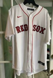 Nike 2020 Boston Red Sox Home Jersey Mookie Betts White Rare T770-BQWH Size L