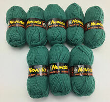 Neveda Pure New Wool Woolton Worsted Yarn - 8 Skeins Teal Green #578 - Holland