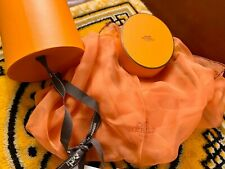 Hermes Losange Medium Silk orange Scarf New in the box Authentic.
