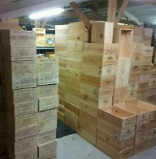 ++12 BOTTLE LARGE FRENCH WOODEN WINE CRATE / BOX  PLANTER HAMPER STORAGE~~~