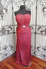 V108 JADE COUTURE K3393 BERRY SZ 20 $619 12266WP   FORMAL GOWN DRESS