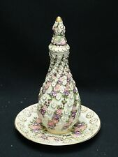 VINTAGE TURKISH SIGNED MILLI SARAYLAR YILDIZ PORSELEN PORCELAIN JAR & UNDERPLATE