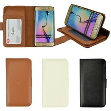 Faux Leather Card Slot Flip Wallet Stand Case Cover For Samsung Galaxy S6 Edge