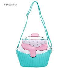 IRON FIST Ladies Bag Mint Green/Pink Cupcake  BAKERS DOZEN Handbag
