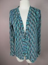 Lily White T168 Size M Women's Green V Neck Cardigan Blouse Top