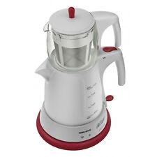 Arzum Cayci Elektrischer Teekocher Teemaschine Teebereiter Wasserkocher Weiß/Rot
