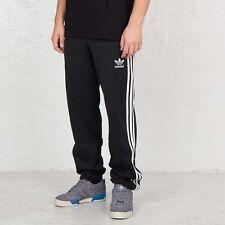 Para Hombre Nuevas Adidas Original Firebird Retro Pantalones Bottoms Gym Negro chándal Diseñador