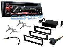NEW JVC CAR STEREO RADIO DECK WITH AUX INPUT & COMPLETE INSTALLATION KIT