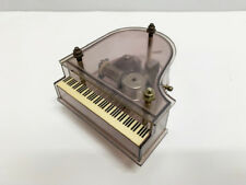 Vintage Sanko Movement Working Grand Piano Music Box Dark Clear Acrylic
