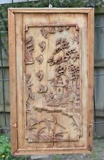 Antique Chinese Wooden Carving / Carved Panel, 19th c