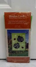 Meadow Creek Green Black Red White Lady Bug Decorative Garden Flag