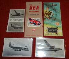 More details for 1954 bea flight package - timetable route map postcards
