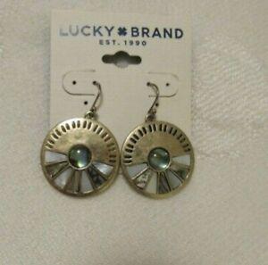 Lucky Brand Goldtone Natural Abalone  Disc Drop Earrings JLRU5782   LC62