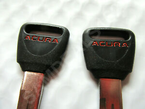 2 Genuine NEW Honda Acura OEM Master Key Blank =RED= Acura Integra CL TL Vigor