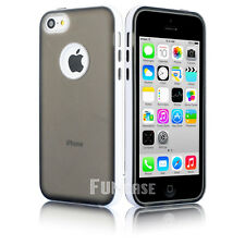 For Apple iPhone 5C Clear Rugged Candy Shell Soft Rubber Protective Case Cover
