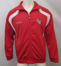 SOCCER FULL ZIP TRACK JACKET SIZE MED, SPORTS, JOGGING, TRAINING, RED
