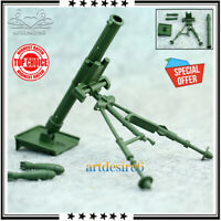 """1:6 Scale Military Army Green Combat Soldier Mortar Gun Weapon Fit 12"""" Figure"""