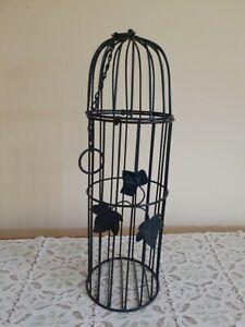 Decorative Metal Dome Birdcage  Country Style, Hanging Loop, Indoor/Outdoor