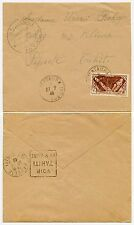 FRENCH POLYNESIA TUBUAI MATAURA 1940 WW2 CENSORED INTER ISLAND MAIL