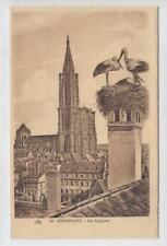 AK Strasbourg, Strassburg, Les Cigognes, 1923