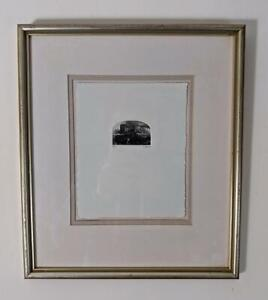 NICHOLAS WARD Signed Miniature Etching THE KING AT SHACKERSTONE 1992 STEAM TRAIN