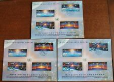 United Nations – Planet Earth Set Postcards – PSC x 3 – FDC (Le1)