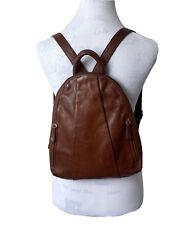 Osgoode Marley Backpack Teardrop Brown Distressed Leather Small Multi Pocket Bag