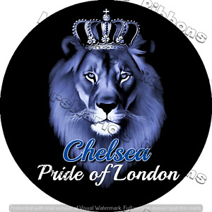 Chelsea Football pride static cling car window/glass sticker FREE domestic P&P